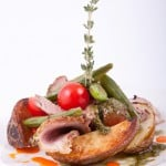 салат с ростбифом и стручковым горошком
